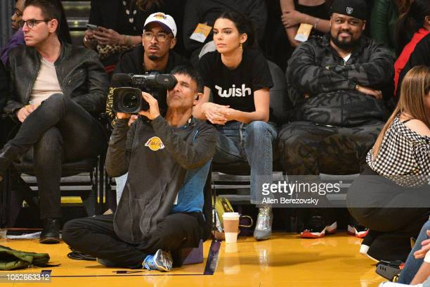 Kendall Jenner attends a basketball game between the Los Angeles Lakers and the Houston Rockets at Staples Center on October 20 2018 in Los Angeles...