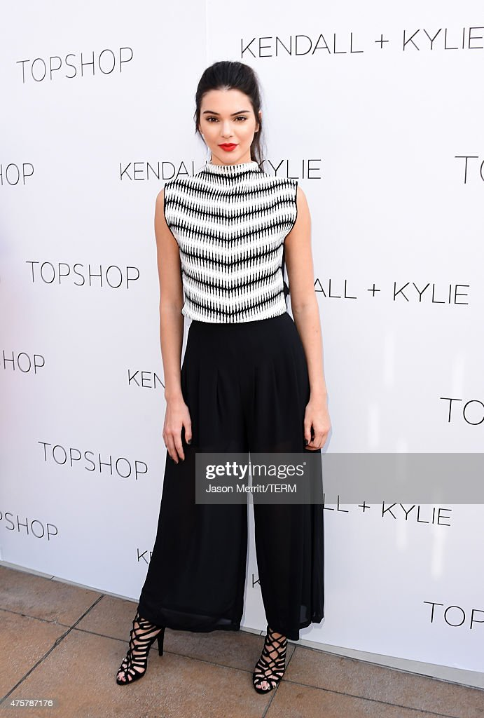 Kendall Jenner attends a launch party for the Kendall + Kylie fashion line at TopShop on June 3, 2015 in Los Angeles, California.
