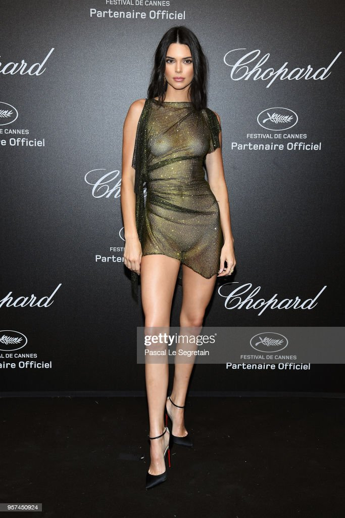 Kendall Jenner attends Chopard Secret Night during the 71st annual Cannes Film Festival at Chateau de la Croix des Gardes on May 11, 2018 in Cannes, France.