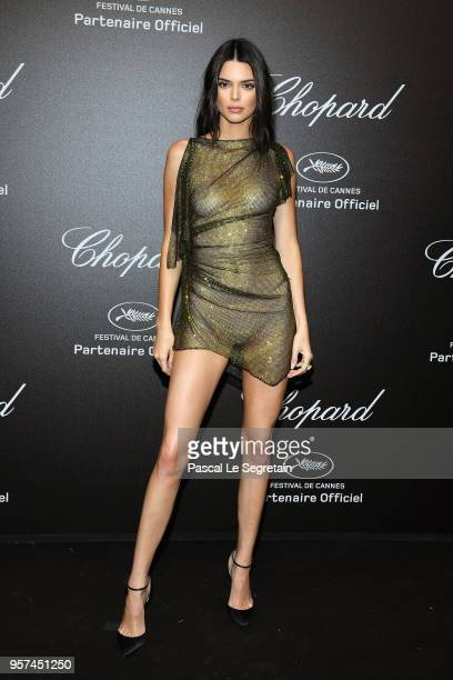 Kendall Jenner attends Chopard Secret Night during the 71st annual Cannes Film Festival at Chateau de la Croix des Gardes on May 11 2018 in Cannes...