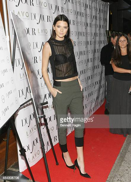 Kendall Jenner attends DuJour Magazine Celebrates Kendall Kylie Jenner at Lavo on August 28 2014 in New York City