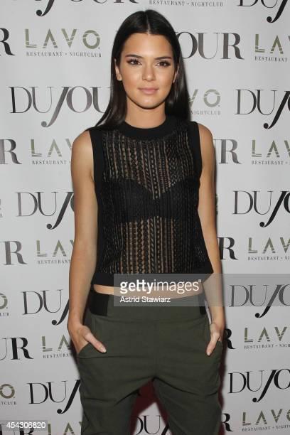 Kendall Jenner attends DuJour Magazine's Jason Binn celebrating Kendall and Kylie Jenner's Bruce Weber shoot presented by Juice Press at Lavo...