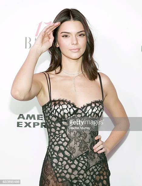 Kendall Jenner attends Harper's BAZAAR celebration of the 150 Most Fashionable Women presented by TUMI in partnership with American Express La Perla...