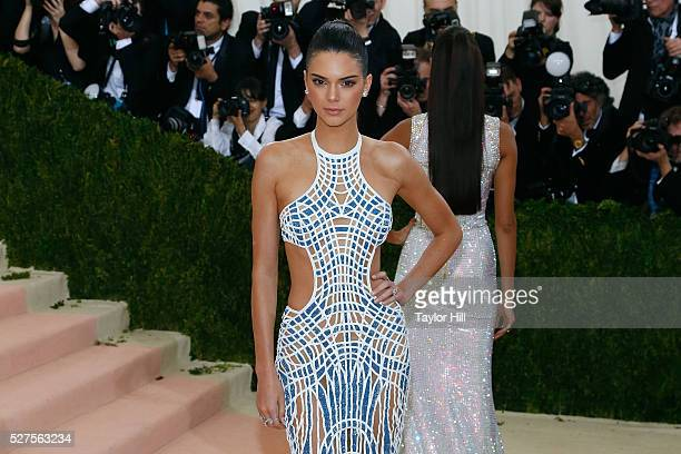 """Kendall Jenner attends """"Manus x Machina: Fashion in an Age of Technology"""", the 2016 Costume Institute Gala at the Metropolitan Museum of Art on May..."""