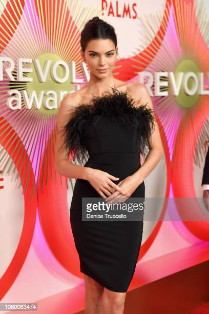 Kendall Jenner attends REVOLVE Presents The 2nd Annual #REVOLVEawards at Palms Casino Resort on November 9 2018 in Las Vegas Nevada