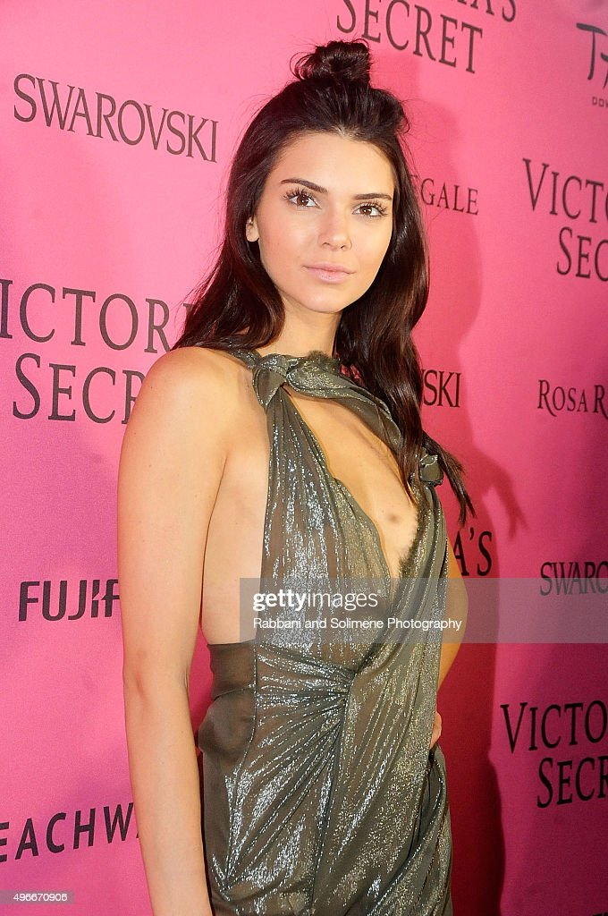 Kendall Jenner attends the 2015 Victoria's Secret Fashion Show at TAO Downtown on November 10, 2015 in New York City.