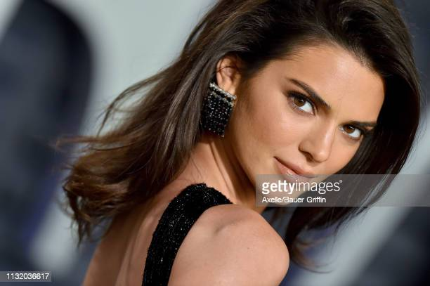 Kendall Jenner attends the 2019 Vanity Fair Oscar Party Hosted By Radhika Jones at Wallis Annenberg Center for the Performing Arts on February 24,...