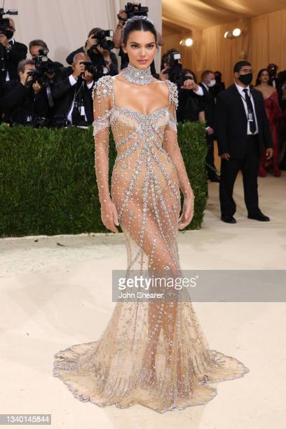 Kendall Jenner attends The 2021 Met Gala Celebrating In America: A Lexicon Of Fashion at Metropolitan Museum of Art on September 13, 2021 in New York...