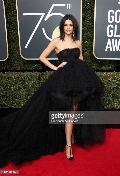 Kendall Jenner attends The 75th Annual Golden Globe Awards at The Beverly Hilton Hotel on January 7, 2018 in Beverly Hills, California.