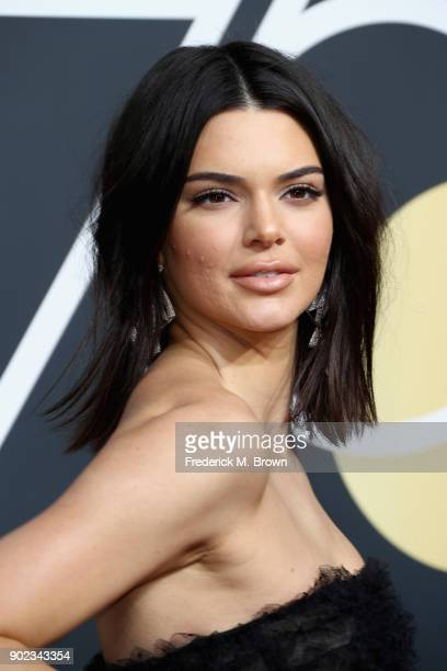 Kendall Jenner attends The 75th Annual Golden Globe Awards at The Beverly Hilton Hotel on January 7 2018 in Beverly Hills California