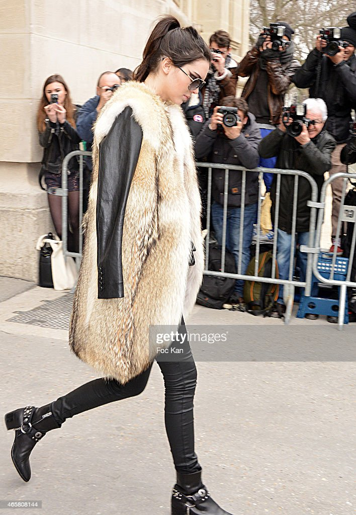Kendall Jenner attends the Chanel show as part of the Paris Fashion Week Womenswear Fall/Winter 2015/2016 on March 10, 2015 in Paris, France.