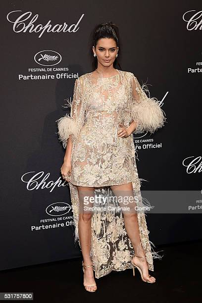 Kendall Jenner attends the Chopard Party during the 69th annual Cannes Film Festival on May 16 2016 in Cannes France