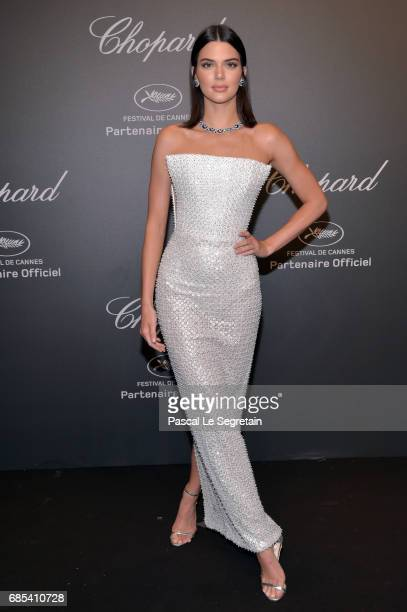 "Kendall Jenner attends the Chopard ""SPACE Party"" hosted by Chopard's copresident Caroline Scheufele and Rihanna at Port Canto on May 19 in Cannes..."