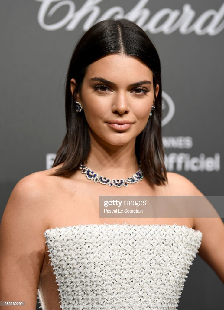 "Kendall Jenner attends the Chopard ""SPACE Party"", hosted by Chopard's co-president Caroline Scheufele and Rihanna, at Port Canto on May 19, 2017, in Cannes, France."