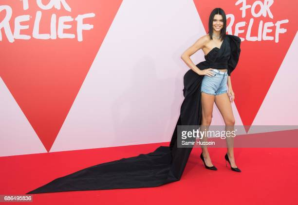 Kendall Jenner attends the Fashion for Relief event during the 70th annual Cannes Film Festival at Aeroport Cannes Mandelieu on May 21 2017 in Cannes...