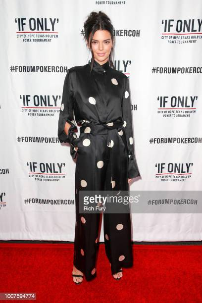 Kendall Jenner attends the first annual If Only Texas hold'em charity poker tournament benefiting City of Hope at The Forum on July 29 2018 in...