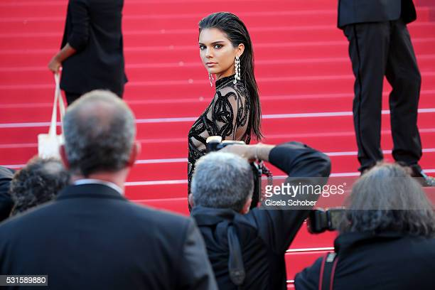 """Kendall Jenner attends the """"From The Land Of The Moon """" premiere during the 69th annual Cannes Film Festival at the Palais des Festivals on May 15,..."""