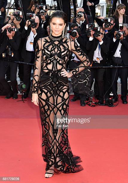 Kendall Jenner attends the 'From The Land Of The Moon ' premiere during the 69th annual Cannes Film Festival at the Palais des Festivals on May 15...