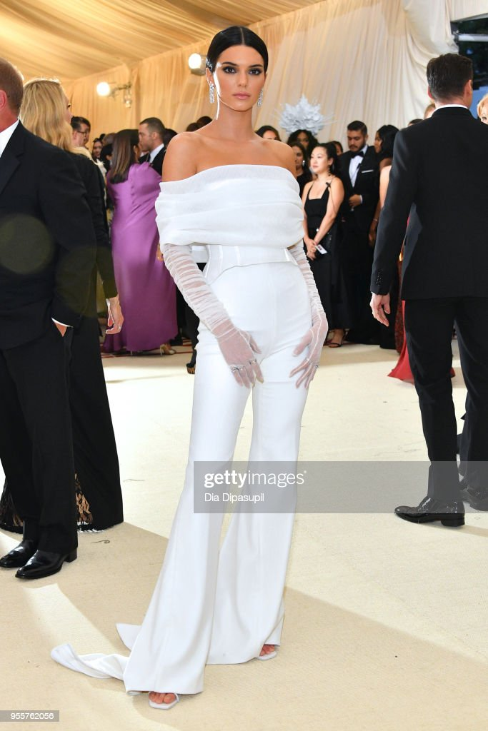 Kendall Jenner attends the Heavenly Bodies: Fashion & The Catholic Imagination Costume Institute Gala at The Metropolitan Museum of Art on May 7, 2018 in New York City.