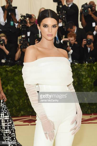 Kendall Jenner attends the Heavenly Bodies Fashion The Catholic Imagination Costume Institute Gala at The Metropolitan Museum of Art on May 7 2018 in...
