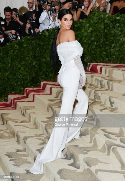 Kendall Jenner attends the Heavenly Bodies Fashion The Catholic Imagination Costume Institute Gala at Metropolitan Museum of Art on May 7 2018 in New...