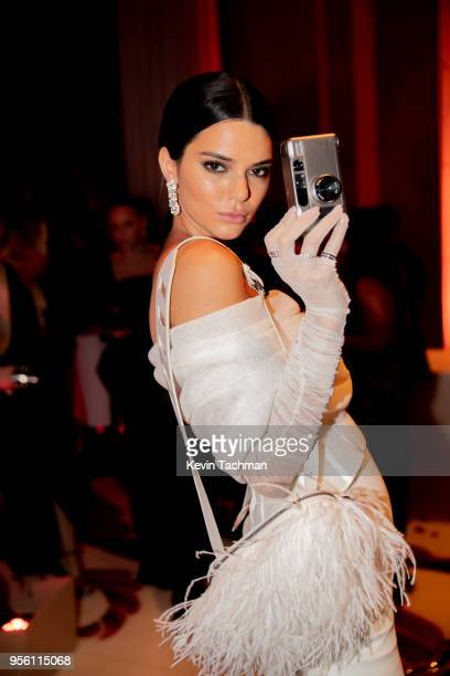 Kendall Jenner attends the Heavenly Bodies: Fashion & The Catholic Imagination Costume Institute Gala at The Metropolitan Museum of Art on May 7,...