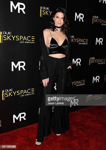 Kendall Jenner attends the launch of OUE Skyspace LA at US Bank Tower on July 14 2016 in Los Angeles California