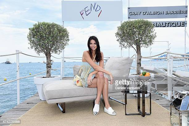 Kendall Jenner attends the launch of the new Fendi By Karl Lagerfeld Book during the 68th annual Cannes Film Festival on May 21 2015 in Cannes France