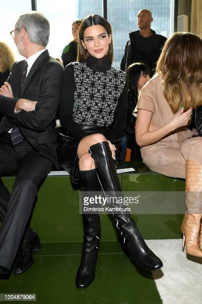 Kendall Jenner attends the Longchamp Fall/Winter 2020 Runway Show at Hudson Commons on February 08, 2020 in New York City.