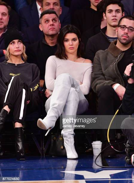 Kendall Jenner attends the Los Angeles Clippers Vs New York Knicks game at Madison Square Garden on November 20 2017 in New York City