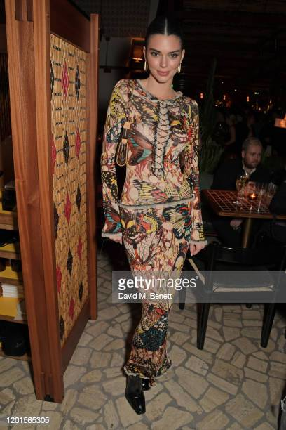 Kendall Jenner attends the LOVE Magazine LFW Party, celebrating issue 23 at The Standard, London on February 17, 2020 in London, England. LOVE...