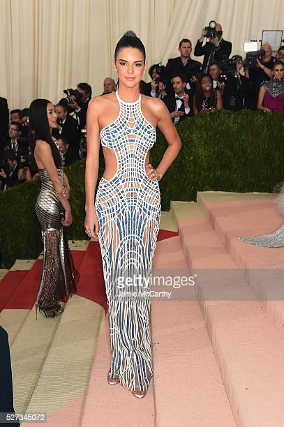 """Kendall Jenner attends the """"Manus x Machina: Fashion In An Age Of Technology"""" Costume Institute Gala at Metropolitan Museum of Art on May 2, 2016 in..."""