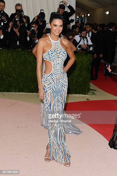 Kendall Jenner attends the 'Manus x Machina: Fashion in an Age of Technology' Costume Institute Gala at the Metropolitan Museum of Art on May 2, 2016...
