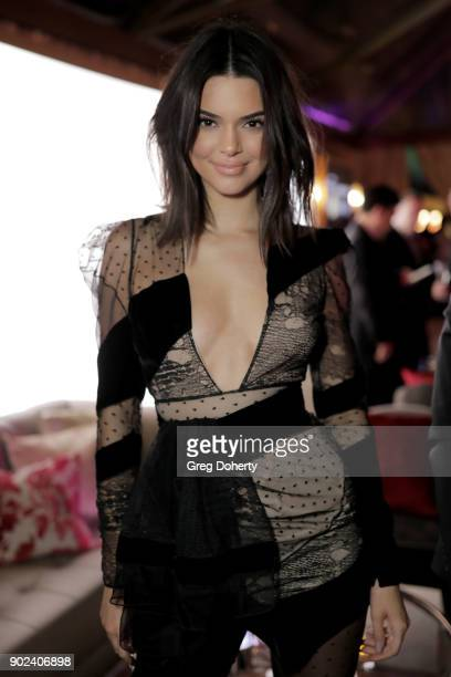 Kendall Jenner attends the Official Viewing and After Party of The Golden Globe Awards bosted by The Hollywood Foreign Press Association on January 7...