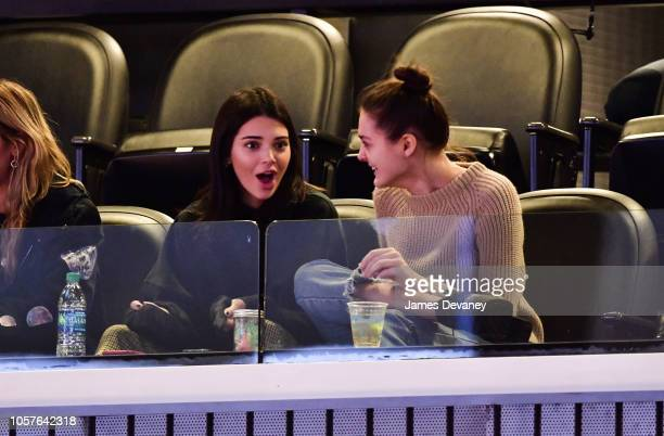 Kendall Jenner attends the Philadelphia 76ers vs Brooklyn Nets game at Barclays Center of Brooklyn on November 4, 2018 in New York City.