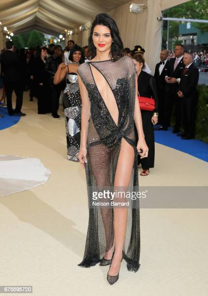 Kendall Jenner attends the Rei Kawakubo/Comme des Garcons Art Of The InBetween Costume Institute Gala at Metropolitan Museum of Art on May 1 2017 in...