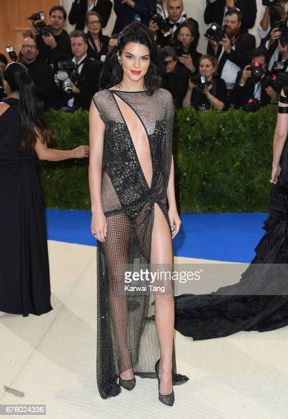 Kendall Jenner attends the Rei Kawakubo/Comme des Garcons Art Of The InBetween Costume Institute Gala at the Metropolitan Museum of Art on May 1 2017...