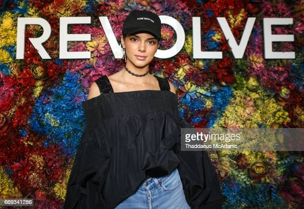 Kendall Jenner attends the REVOLVE Desert House during Coachella on April 16 2017 in Palm Springs California on April 16 2017 in Palm Springs...
