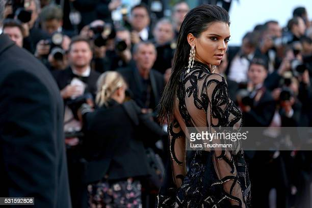 Kendall Jenner attends the screening of From The Land Of The Moon at the annual 69th Cannes Film Festival at Palais des Festivals on May 15 2016 in...