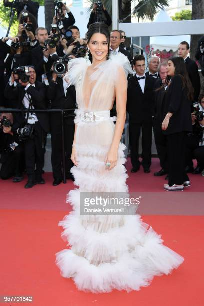Kendall Jenner attends the screening of 'Girls Of The Sun ' during the 71st annual Cannes Film Festival at Palais des Festivals on May 12 2018 in...