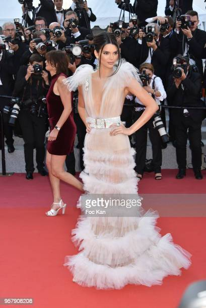 Kendall Jenner attends the screening of Girls Of The Sun during the 71st annual Cannes Film Festival at Palais des Festivals on May 12 2018 in Cannes...