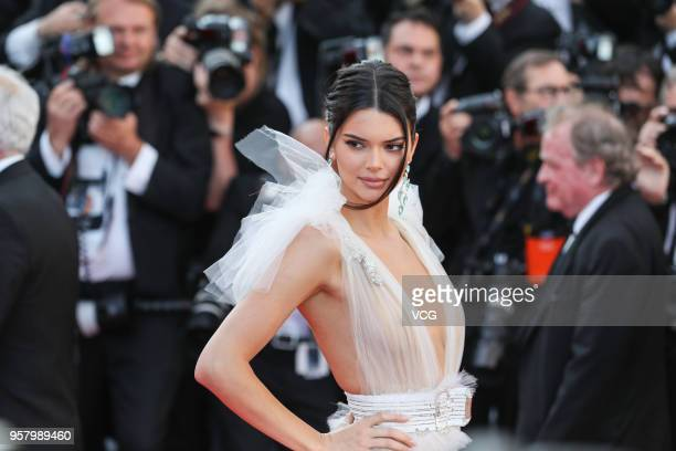 Kendall Jenner attends the screening of 'Girls Of The Sun ' during the 71st annual Cannes Film Festival at Palais des Festivals on May 12, 2018 in...