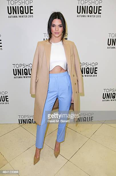 Kendall Jenner attends the Topshop Unique show during London Fashion Week Fall/Winter 2015/16 at Tate Britain on February 22, 2015 in London, England.