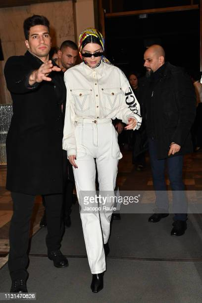 Kendall Jenner attends the Versace show at Milan Fashion Week Autumn/Winter 2019/20 on February 22, 2019 in Milan, Italy.
