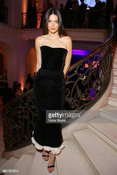 Kendall Jenner attends Vogue 95th Anniversary Party on October 3 2015 in Paris France