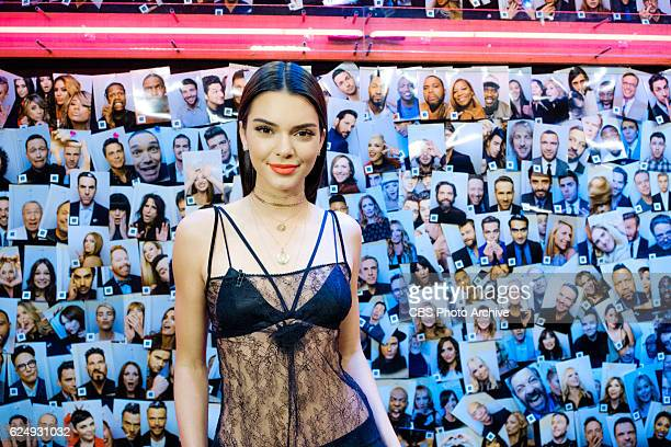Kendall Jenner backstage during 'The Late Late Show with James Corden' Friday November 11 2016 On The CBS Television Network