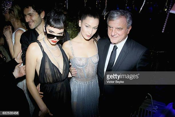 Kendall Jenner Bella Hadi and Sidney Toledano attend the Christian Dior Haute Couture Spring Summer 2017 Bal Masque as part of Paris Fashion Week on...