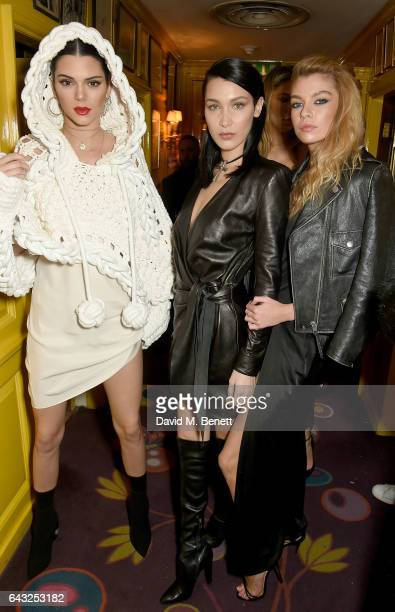 Kendall Jenner Bella Hadid and Stella Maxwell at the LOVE and Burberry London Fashion Week Party at Annabel's celebrating Katie Grand and Kendall...