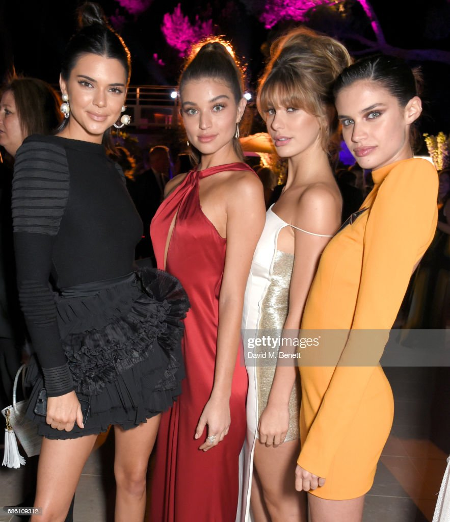 Kendall Jenner, Camila Morrone, Daniela Lopez Osorio and Sara Sampaio attend the Vanity Fair and Chopard Party celebrating the Cannes Film Festival at Hotel du Cap-Eden-Roc on May 20, 2017 in Cap d'Antibes, France.