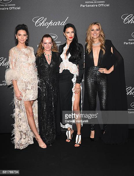 Kendall Jenner Caroline Scheufele Adriana Lima and Petra Nemcova attend Chopard Wild Party as part of The 69th Annual Cannes Film Festival at Port...